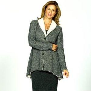 Goddess Gear Shawl Collar Jacket S 4 6 Gray NEW